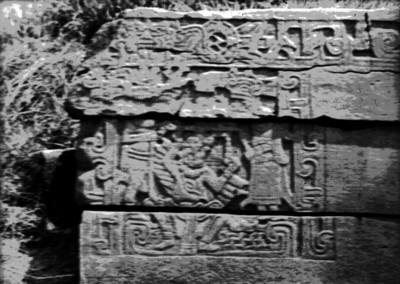 Tablero del Juego de Pelota Norte con el símbolo de venus