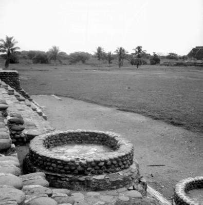 Vista de perfil de la planta circular en el sistema del Dios del Viento