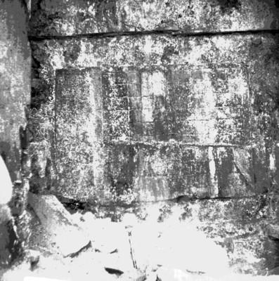 Tablero maya durante los trabajos de exploración en Palenque