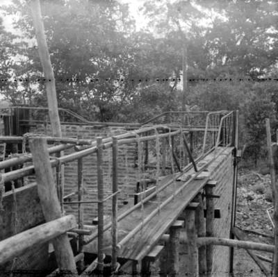 Vista de la parte superior de la obra en proceso de construcción