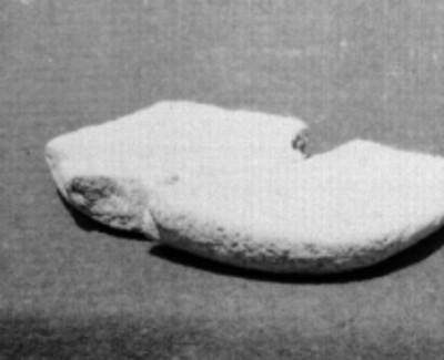 Fragmento de lítica, vista