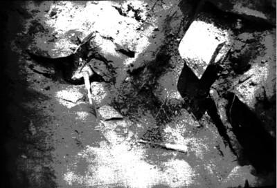 Excavación de cerámica in situ, Palenque