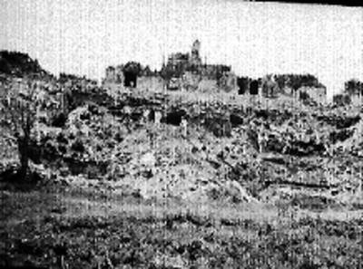 Vista de los trabajos exploración en el lado sur del Palacio
