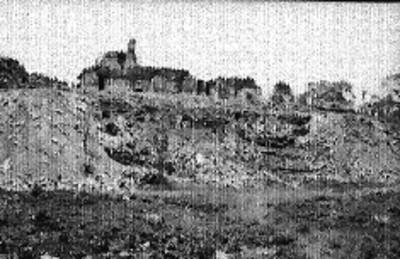 Vista de los trabajos de reconstrucción y exploración en el lado sur del Palacio