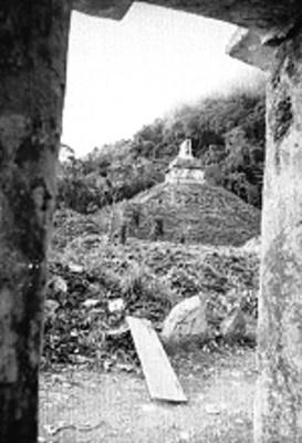 Templo del Sol sin restaurar, vista lateral