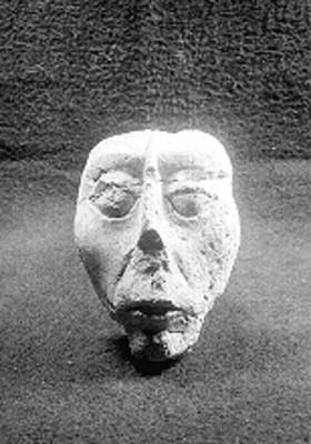 Máscara fragmentada, vista frontal