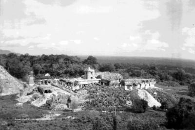 Trabajos de restauración del conjunto del Palacio, Palenque
