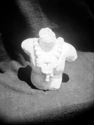 Busto con collar de Palenque, escultura