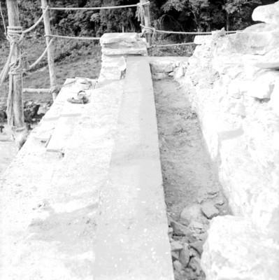 Vista del colado de castillos de varilla en la Torre del Palacio