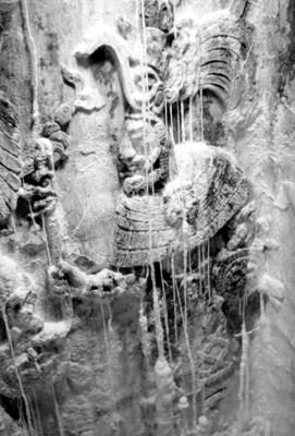 Relieve en el costado del Sarcófago de Pakal, detalle