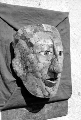 Máscara funeraria de Pakal, vista de perfil