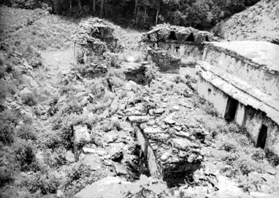 Edificios del Conjunto de El Palacio en ruinas, vista parcial