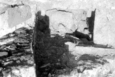 Trabajadores sobre andamios en la restauración de un templo en Palenque