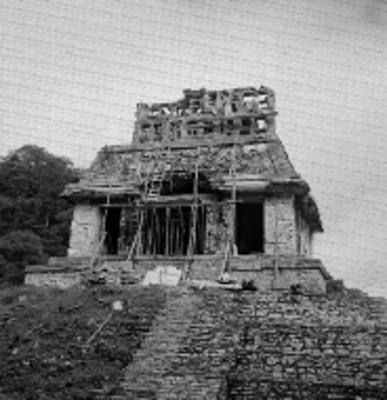 Restauración de la fachada del Templo del Sol