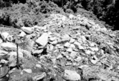 Excavación del adoratorio de un Templo en Palenque
