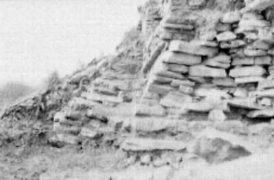 Cimiento perteneciente al pórtico del Templo el Conde, Palenque