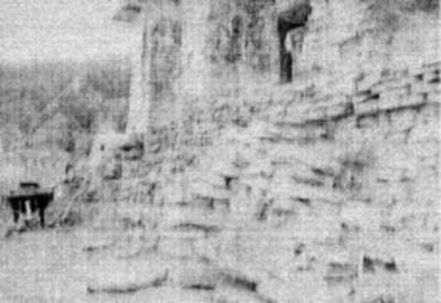 Detalle de las escalinatas del templo el Conde, Palenque