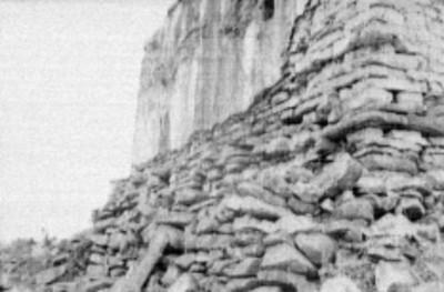 Detalle del cimiento en el Templo el Conde, Palenque