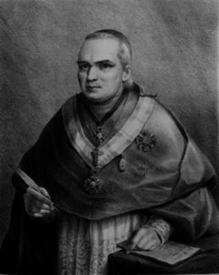 Antonio Bergosa y Jordán, obispo, litografía, retrato
