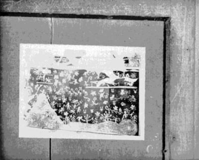 Fotografía de un boceto del mural el Tlalocan de Tepantitla, reprografía