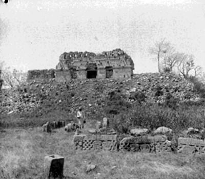 Estructura sin reconstruir en Chichén Itzá