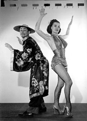 Leo Rubio y bailarina, retrato