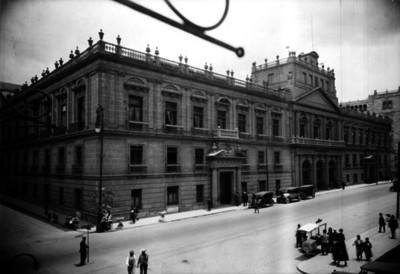 Escuela Nacional de Ingenieros, fachada, vista lateral