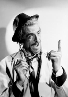Salomón Wallerstein, actor, personifica a un médico, retrato