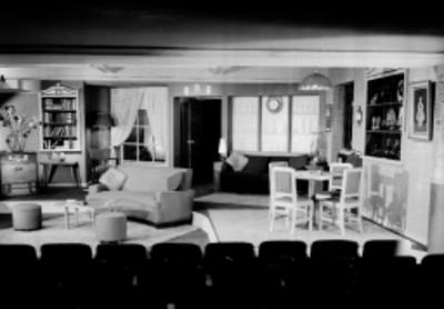 Escenografía de la obra teatral: Póker de nada