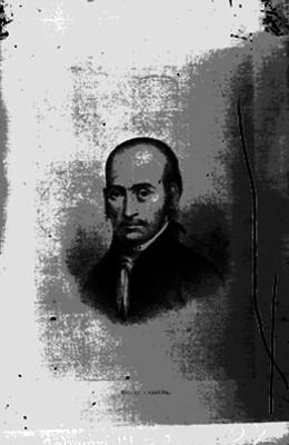 Miguel Cabrera, pintor, reprografía de litografía