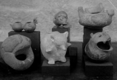 Lote de esculturas zoomorfas, procedentes de Teotihuacán