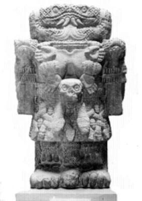 Escultura de la diosa Coatlicue, cultura mexica