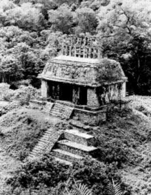 Templo del Sol, vista parcial, reprografía