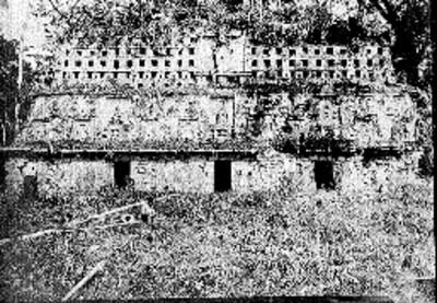 Estructura 33 de Yaxchilán, vista frontal