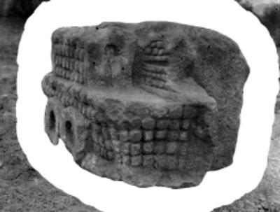 Escultura de Tláloc, pertenece al Templo de Quetzalcóatl, Teotihuacán