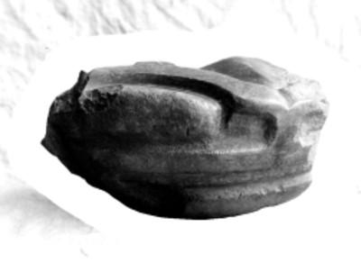 Fragmento de yugo prehispánico