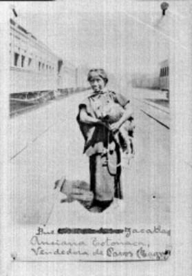 Anciana Totonaca, vendedora de pavos, retrato
