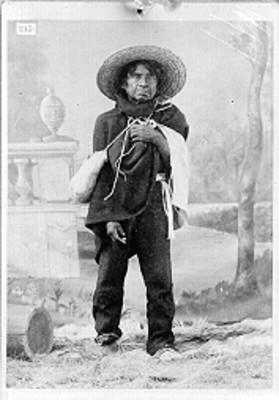 Hombre nahua de frente, retrato