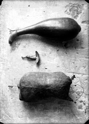 Acocote, raspador, cuero o chivo ( cuchantle)
