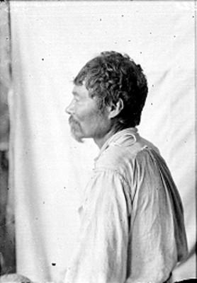 Hombre nahua de perfil, retrato