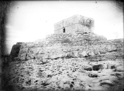 Tulum antes de su restauración, panorámica