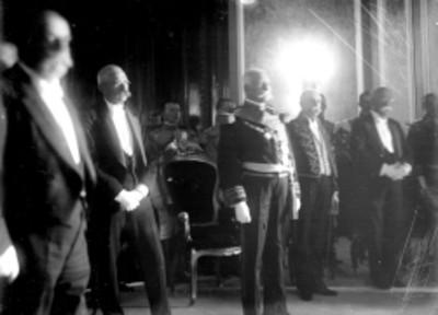 Porfirio Díaz y Ministros en las fiestas del Centenario