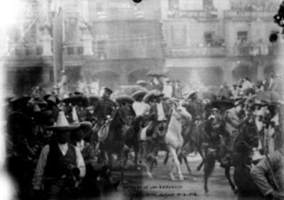 Entrada de los generales Villa y Zapata a México