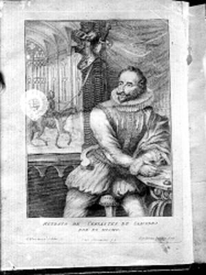 Miguel de Cervantes Saavedra, dibujo hecho por él mismo