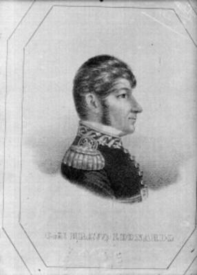 Leonardo Bravo, militar, litografía