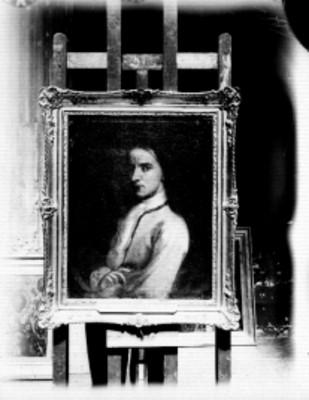 Cabrera, autorretrato, pintura de caballete