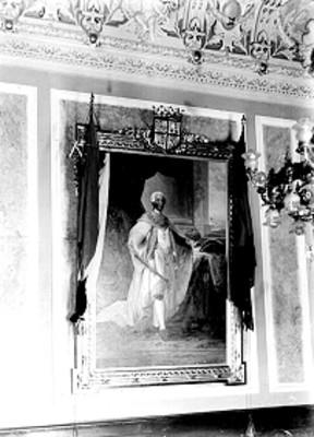 Carlos III Rey de España, pintura al óleo, reproducción