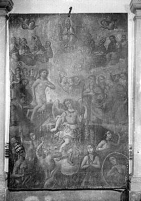 Pintura de caballete en la Iglesia de San Lorenzo, detalle