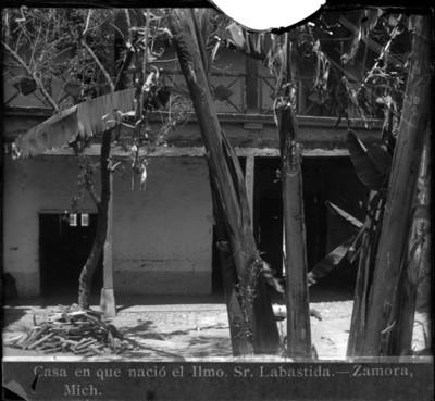"""""""Casa en que nació el Ilmo. Sr. Labastida"""", vista parcial"""