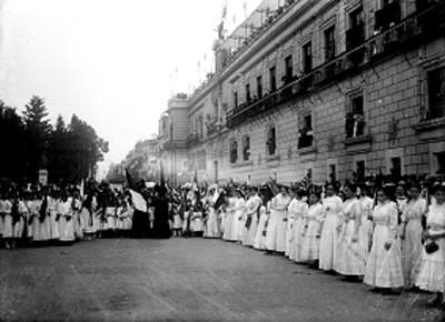 Ceremonia cívica, vista general